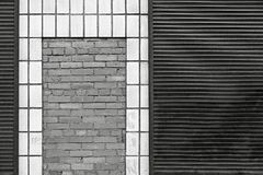 Monochrome abstract facade of the building Royalty Free Stock Photos