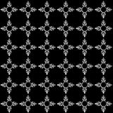 Monochrome abstract floral seamless pattern. Vector background Royalty Free Stock Images