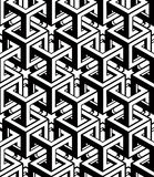 Monochrome abstract geometric seamless pattern. Vector Royalty Free Stock Photos