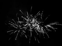 A monochrome image of firework rays. A monochrome abstract of interesting geometry Stock Photos