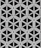 Monochrome abstract interweave geometric seamless pattern. Vecto Stock Photos