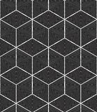 Monochrome abstract interweave geometric seamless pattern. Vecto Stock Photo