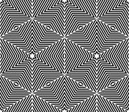 Monochrome abstract interweave geometric seamless pattern. Vecto Royalty Free Stock Photo