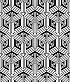Monochrome abstract interweave geometric seamless pattern. Vecto Stock Images