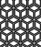 Monochrome abstract interweave geometric seamless pattern. Vecto Stock Photography