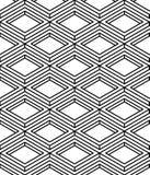 Monochrome abstract interweave geometric seamless pattern. Vecto Stock Photography