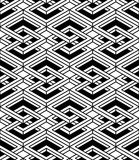 Monochrome abstract interweave geometric seamless pattern. Vecto Royalty Free Stock Photography