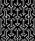 Monochrome abstract interweave geometric seamless pattern. Vector Royalty Free Stock Image