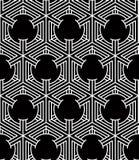 Monochrome abstract interweave geometric seamless pattern. Vector Royalty Free Stock Photo