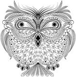 Monochrome abstract owl. Graphic illustration in vector format Stock Photography