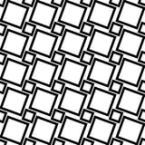 Monochrome abstract seamless geometric square pattern. Vector background design from angular squares royalty free illustration