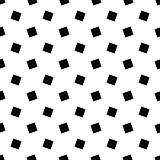 Monochrome abstract seamless geometric square pattern - vector background design. From rotated squares vector illustration