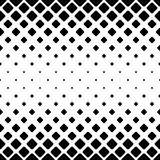 Monochrome abstract square pattern background - black and white geometric vector design from diagonal rounded squares Stock Photos