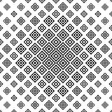 Monochrome abstract square repeat pattern Stock Photography