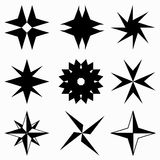 Monochrome abstract stars icons Royalty Free Stock Photo