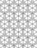 Monochrome abstract textured geometric seamless pattern with geo Stock Photos