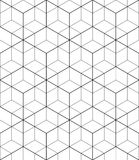 Monochrome abstract textured geometric seamless pattern with geo Royalty Free Stock Image