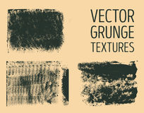 Monochrome abstract vector grunge textures. Set of hand drawn brush strokes and stains. Stock Photo