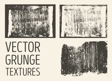 Monochrome abstract vector grunge textures. Set of hand drawn brush strokes and stains. Stock Images