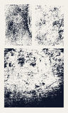 Monochrome abstract vector grunge textures. Set of hand drawn stains. Stock Image