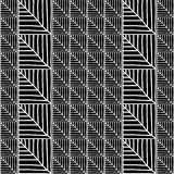 Monochrome African Ornamental Pattern. Stylized Seamless texture with triangles or Tree Leaves. Stock Images