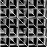 Monochrome African Ornamental Pattern. Stock Image