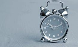 Monochrome alarm clock Royalty Free Stock Images
