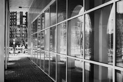 Monochrome architecture glass arches Royalty Free Stock Images
