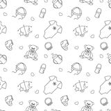 Monochrome baby seamless pattern Royalty Free Stock Photo