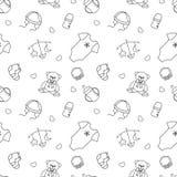 Monochrome baby seamless pattern Royalty Free Stock Photo
