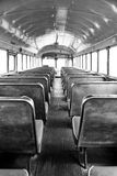 Monochrome Back of the Bus Stock Photography