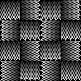 Monochrome background with 3d effect. Squares composed of jagged line. Vector eps10 royalty free illustration