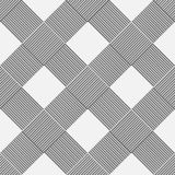 Monochrome background of diagonal pattern wickerwork Royalty Free Stock Photos