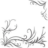 Monochrome background with floral elements Stock Photography