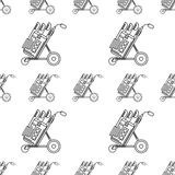 Monochrome background for golf bag Royalty Free Stock Photography