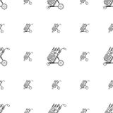 Monochrome background for golf bag Royalty Free Stock Images