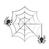 Monochrome background halloween and spiders Royalty Free Stock Images