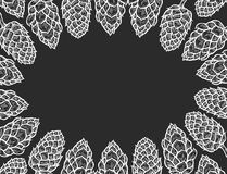 Monochrome background of Hop Royalty Free Stock Image