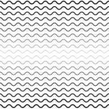 Monochrome background, seamless wavy lines Stock Photos