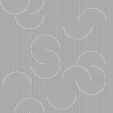 Monochrome background. Striped loopy ribbon. Seamless pattern. Vector illustration. Monochrome background. Striped loopy ribbon with winding elements. Geometric Royalty Free Stock Photo