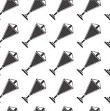 Monochrome background for triangular pennants. Seamless pattern with black silhouette triangle pennants on white background Royalty Free Stock Image