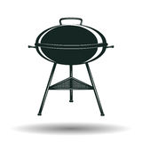 Monochrome BBQ grill sign Stock Image