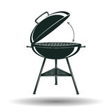 Monochrome BBQ grill sign Stock Photos