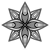 Monochrome Beautiful Decorative Ornate Mandala Royalty Free Stock Image