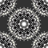 Monochrome beautiful seamless pattern. Vintage elements Stock Images
