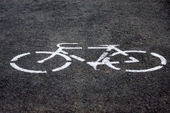 monochrome bicycle road sign Stock Image