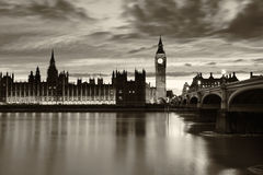 Monochrome Big Ben London Stock Image