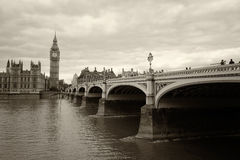Monochrome Big Ben London Royalty Free Stock Photos