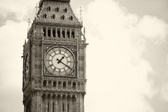 Monochrome Big Ben London Royalty Free Stock Images