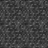 Monochrome binary code seamless pattern. Vector illustration - eps 8 Royalty Free Stock Photography